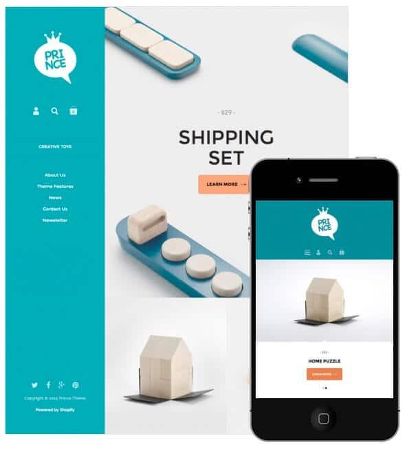 Un exemple de thème Shopify